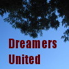 "dreamwriteremmy: treetops & sky, text reads ""Dreamers United"" (Dreamers United)"