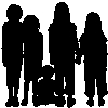 dreamwriteremmy: a group of children's silhouettes (The Dear Ones)