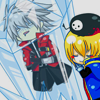 glossological: blazblue; ragna and jin; fanart; (» love is ice cold)