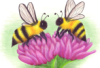 dontchasethebees: (bees on flower drawing)