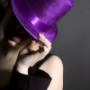 delight: woman in sparkly purple fedora (if you can get away)