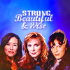 femslashex: Laura Roslin, Beverly Crusher, Delenn (strong beautiful wise)