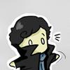 jenwryn: Chibi!Sherlock in his coat (sherlock • sherlock; cutie spinning)