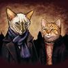 fyrdrakken: (Sherlock/John - cats)