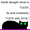 ceruleancat: (Death on cats)