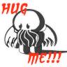 feathercircle: Sad monochrome chibi Cthulhu.  Text: HUG ME!!! (hugs needed)