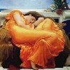 ext_39302: Painting of Flaming June by Frederick Lord Leighton (flaming june)