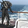 sharpest_asp: A Xenomorph Alien on a ship deck looking out over the ocean (General: WTF (Alien on ship))
