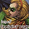 katarik: DC Comics Robin IV, text icon of feminist rage (No more power drills.)