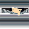 ninetydegrees: Drawing: girl peeking through blinds (peeking)