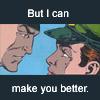 katarik: DC Comics: Major Slade Wilson and Captain Adeline Kane, text but I can make you better (sunshiney day.)