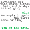 musyc: Draco and Hermione from Harry Potter text icon: you do the math (Draco/Hermione: Do math)