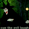 """musyc: Maleficent laughing, captioned """"cue the evil laugh"""" (Maleficent: Evil laugh)"""