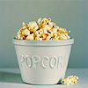 musyc: Stock icon of popcorn in a bucket (Stock: Popcorn)