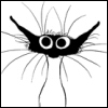 musyc: Illustration of Solange, cat from 9 Chickweed Lane comic strip (Other: Solange wide-eyed)