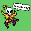 "nightmachinery: Chibi-Rorschach jumping and saying ""WWAAAWWL"" (Echo - Rorschach)"