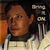 bluefall: Commander Shepard exercising her ego (smug Shep)