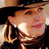 sarken: ann in her cowboy hat ([dallas] shoulda been a cowboy)