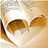 zing_och: pages of a book shaping a heart (lesen)