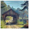 semielliptical: covered bridge on a dirt road (bridge)