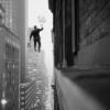 azhure: (tightrope between buildings)