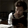 bodlon: (cumberbatch - with book)