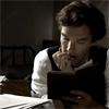 bodlon: (cumberbatch - with book)