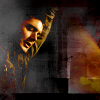 jjhunter: Dean Winchester (SPN) suspended on the right hand side; beautiful colored texture on the left (Dean hanging)
