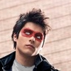 no_ones_son: A picture of Rhydian with a red domino mask photoshopped over his face. (pb mask)
