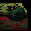 no_ones_son: A panel from Under the Hood of Jason clutching his neck and bleeding heavily. (bleeding)