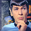 tree_and_leaf: Spcok with one hand on chin, reflective expression (Bemused Spock)