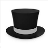 dcu6mod: A picture of a black top hat on a white background. (Default)