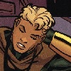 legacy_arrow: Connor rubs the back of his neck, in costume but mask off. (grump)