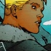 legacy_arrow: Connor wears civilian clothing consisting of a heavy blue coat. He looks to the right. (cold weather)