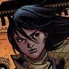 gentlejustice: A shot of Cassandra Cain in civvies, hair blowing behind her. (Default)