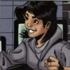 gentlejustice: Cass grins broadly, wearing a faded gray sweatshirt. (grinning)
