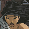 gentlejustice: Cass, wearing bandages over her shoulder and chest and no costume, looks determined (determined)