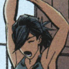 gentlejustice: Wearing a camisole, Cass yawns and stretches (tired)