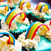 clockwrkheart: Rainbow Cupcakes (rainbows)