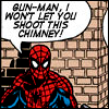 prodigy: Spiderman protecting chimney. (fappo!)