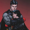 dizmo: Comic Scan: Bruce hugging Tim! Whee! (comics: bathugs)