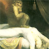 actionreaction: classic image of a nightmare - a creature sitting on the chest of an unconscious woman ([symbols] nightmare)