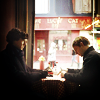 dubious: Sherlock and John's fake date. (Nice lunch [Sherlock])