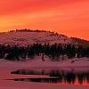 mecomptane: a winter sunset (main icon, sunset)