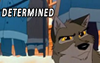 darkspirited1: Balto, from the movie, looking determined (determined)