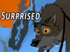 """darkspirited1: Balto, from the movie, with his mouth open and wide eyes with the words """"Shocked"""" (surprised, shocked)"""