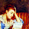 cobaltazure: art by Mary Cassatt of a girl reading (Default)