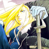 kate_nepveu: Olivier Armstrong sitting down with her hand on the hilt of her sword (FMA:B (Armstrong sitting))