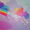 squeaks: (UNICORN [rainbow unicorn attack])