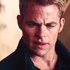 vital: chris pine as james t. kirk. (the captain.)
